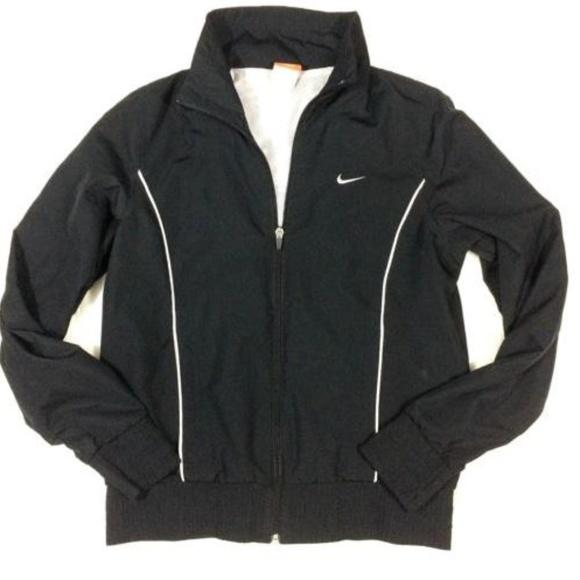 ba58789fe66 Nike Jackets & Coats   Black Zip Up Jacket Lightweight Swoosh   Poshmark
